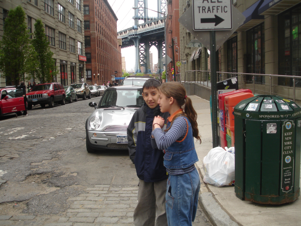 Schmuel Lieb and Aviva Rochel in DUMBO